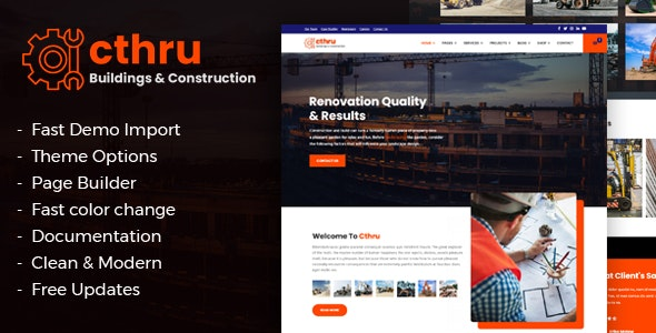 Cthru - Construction and Building Business Joomla Template - Business Corporate