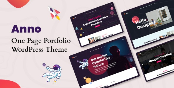 Anno - One Page Portfolio WordPress Theme - Portfolio Creative
