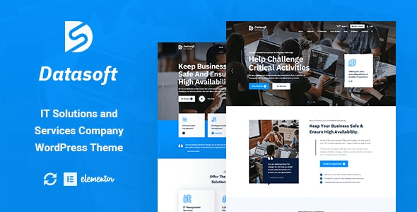 Datasoft - IT Solutions & Services WordPress Theme - Business Corporate