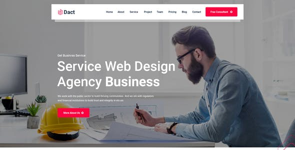 Dact-One Page PSD Template