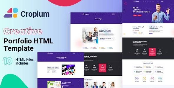 Cropium - Multipurpose HTML Template - Site Templates