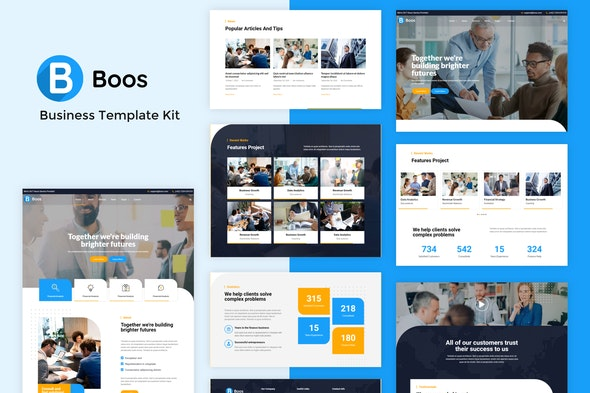 Boos - Business Elementor Template Kit - Business & Services Elementor