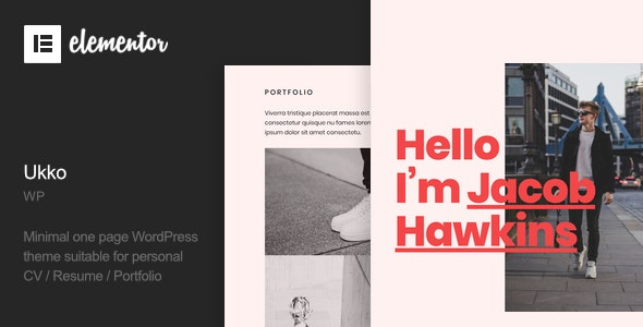 Ukko - Personal Portfolio WordPress Theme - Portfolio Creative