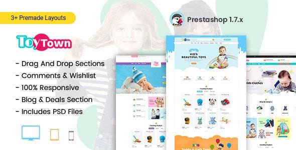 Toytown - Kids Clothing & Toys Prestashop Theme - Shopping PrestaShop