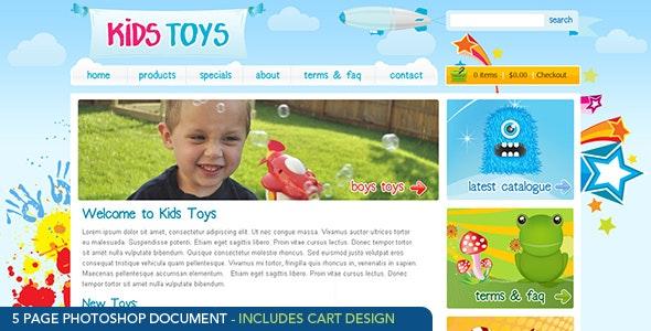 Kids Toys - PSD Template - Children Retail