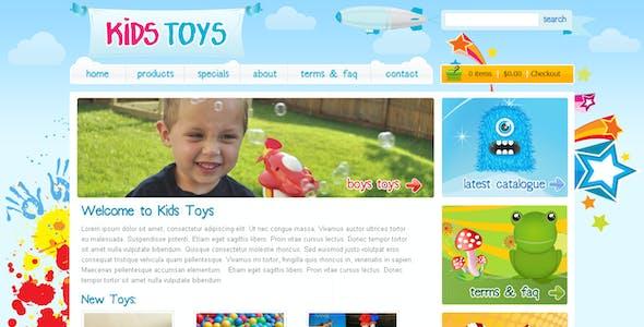 Kids Toys - PSD Template
