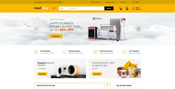 MartFury | Multi-Vendor & Marketplace eCommerce PSD Template