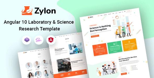 Zylon - Angular 10+ Research & Laboratory Template - Corporate Site Templates