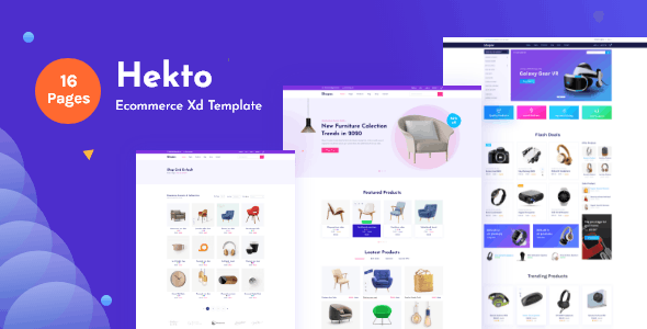 Hekto-Ecommerce Xd Template - Business Corporate