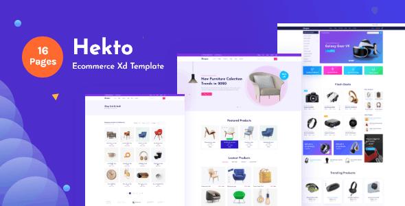 Hekto-Ecommerce Xd Template