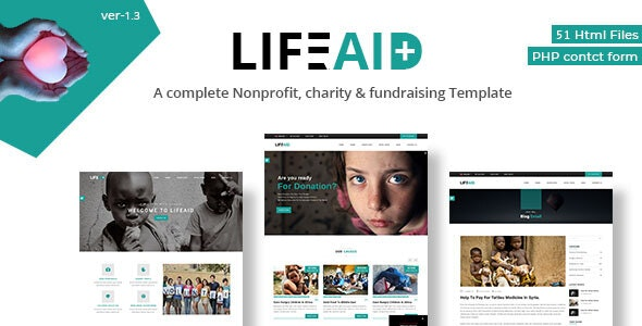 Life Aid Multipurpose Fundraising & Charity HTML Responsive Template - Charity Nonprofit