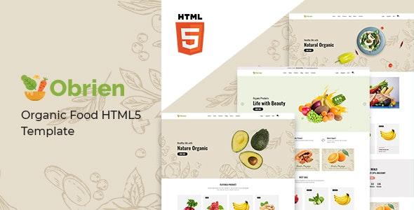 Obrien Organic Food HTML 5 Template