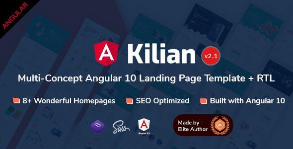 Kilian - Angular 10+ Multi-Concept Landing Pages