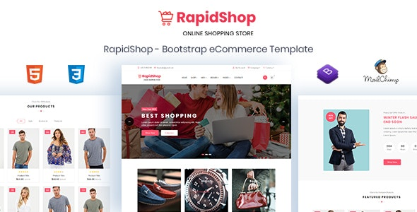 RapidShop - eCommerce Bootstrap HTML Template - Shopping Retail