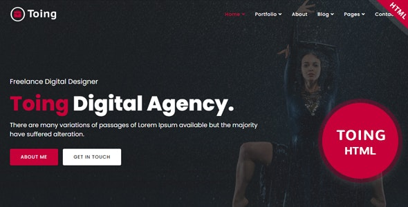 Toing – Portfolio HTML Template - Business Corporate