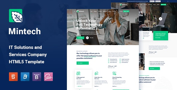 Mintech - IT Solutions & Services HTML5 Template - Business Corporate