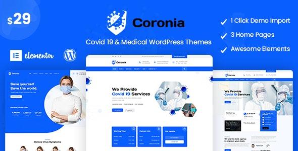 Coronia - Covid 19 & Medical  WordPress Themes - Health & Beauty Retail