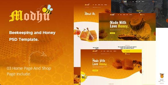 Modhu - Beekeeping and Honey PSD Template