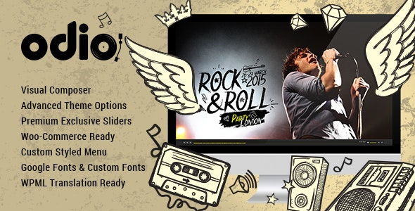 Odio - Music WP Theme For Bands, Clubs, and Musicians - Music and Bands Entertainment
