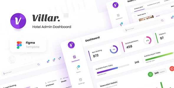 Villar - Hotel Booking Admin Dashboard UI Figma Template - Miscellaneous Figma