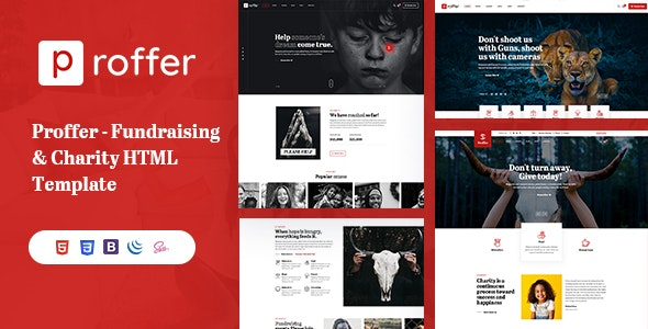 Proffer - Fundraising & Charity HTML Template - Charity Nonprofit