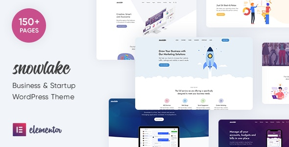 Snowlake - Creative Business & Startup WordPress Theme - Creative WordPress
