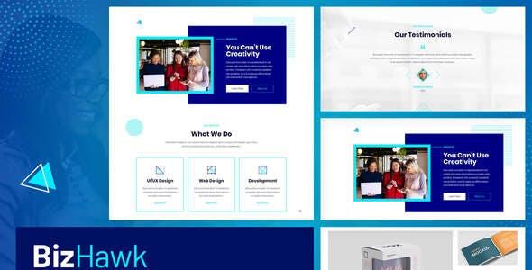 BizHawk - Corporate Agency Elementor Template Kit