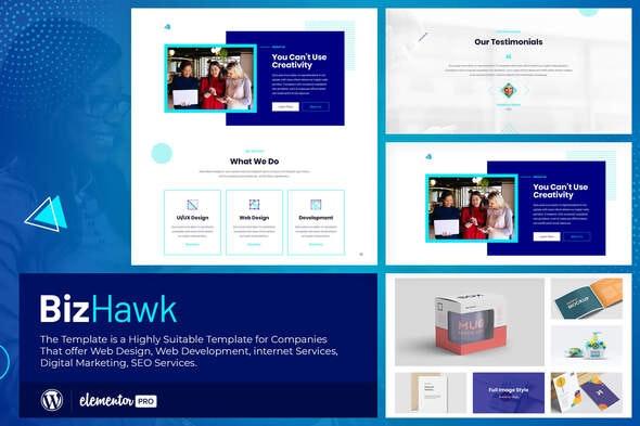 BizHawk - Corporate Agency Elementor Template Kit - Business & Services Elementor