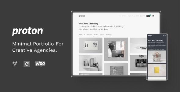 Proton - Minimal Portfolio Theme - Portfolio Creative