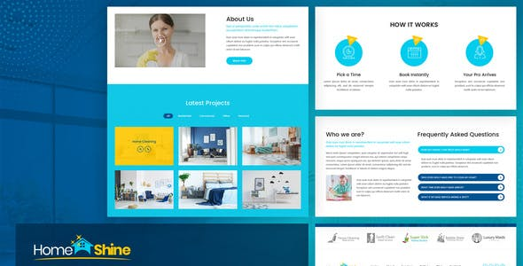 HomeShine - Cleaning & Laundry  Elementor Template Kit