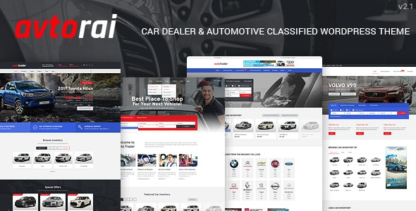 Avtorai- Car Dealer & Automotive Classified WordPress Theme - Directory & Listings Corporate