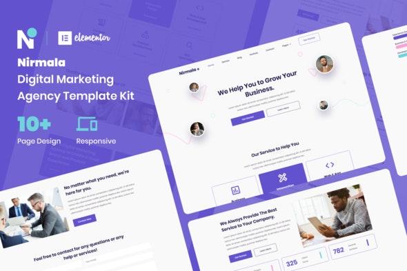 Nirmala - Digital Marketing Agency Elementor Template Kit - Business & Services Elementor