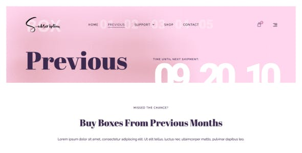 BeautyBox - Subscription Box Elementor Template Kit