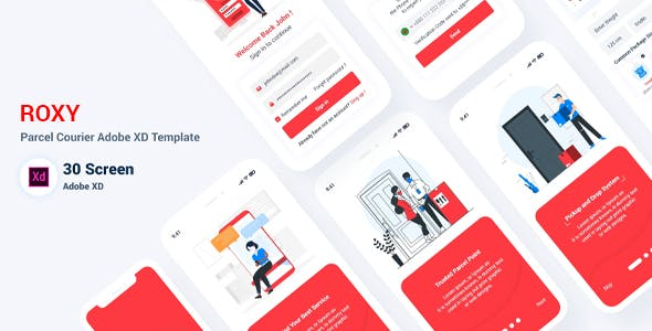 Roxy - Parcel Delivery Adobe XD Template