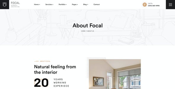 Focal - Creative Interior & Architecture PSD Template