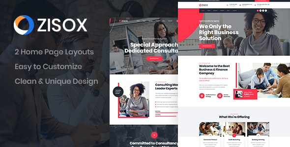 Zisox - Business PSD Template - Business Corporate