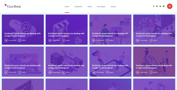 Garibun - Creative Blog PSD Template
