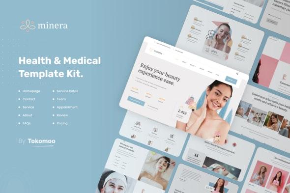 Minera | Skincare & Dermatology Elementor Template Kit - Health & Medical Elementor