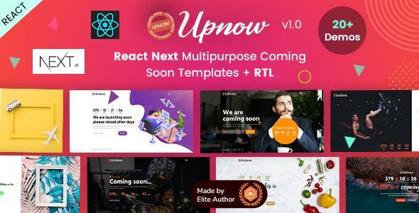Upnow - React Next Under Construction Landing Template