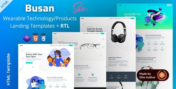 Busan - Product Landing Templates - Technology Site Templates
