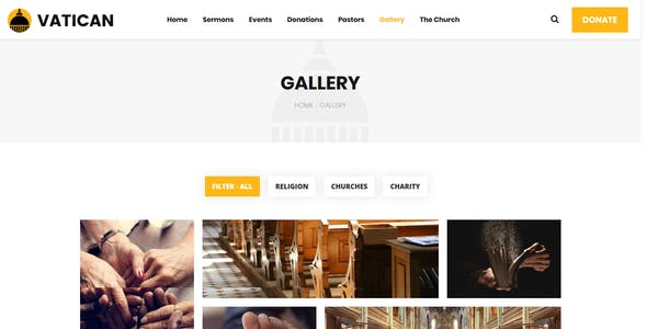 Vatican - Church WordPress Theme