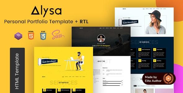 Alysa - Personal Portfolio HTML Template - Portfolio Creative