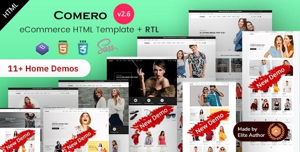 Comero - eCommerce HTML Template - Retail Site Templates