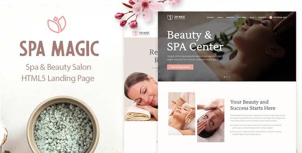 SpaMagic - Beauty Spa Salon Wellness Center HTML Template - Health & Beauty Retail