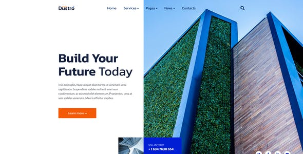 Dustro – Construction Company Template for Photoshop