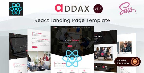 Addax   React Multi-Purpose Landing Templates