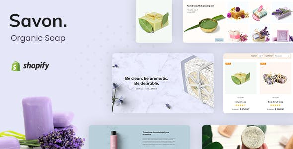 Savon - Handmade Soap, Cosmetics Beauty Shopify Theme