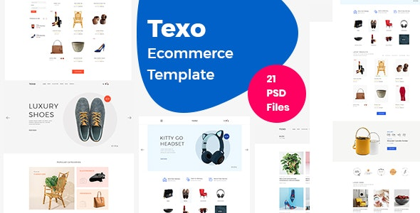 Texo - Multipurpose ecommerce psd template - Shopping Retail