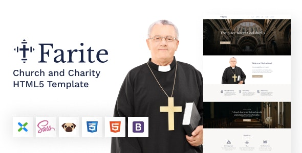 Farite - Church and Charity HTML5 Template - Churches Nonprofit