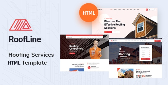 RoofLine - Roofing Services HTML5 Template - Business Corporate